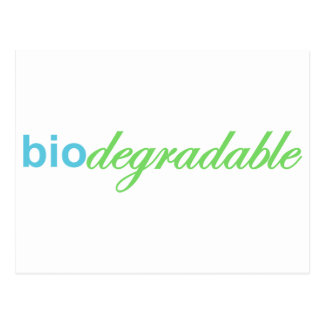 Biodegradeable Postcard