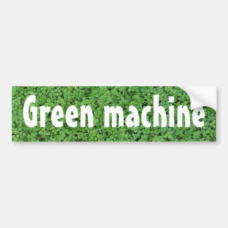 Biodiesel Powered Green Machine Bumper Sticker
