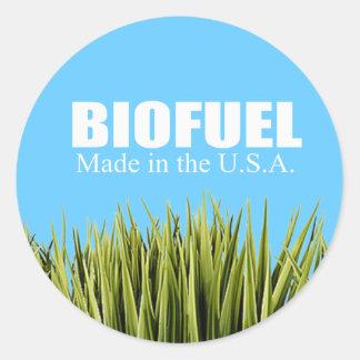 Biofuel - Made in the USA Round Sticker