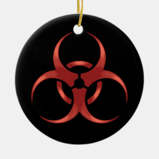 Biohazard 1 ceramic ornament
