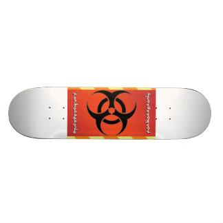 biohazard 21.3 cm mini skateboard deck
