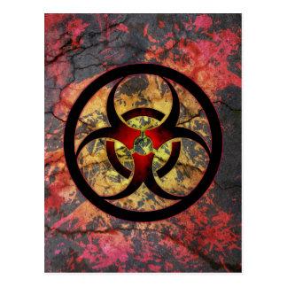 Biohazard Art Design Postcard