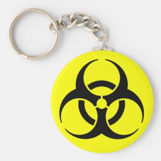 Biohazard! Basic Round Button Key Ring