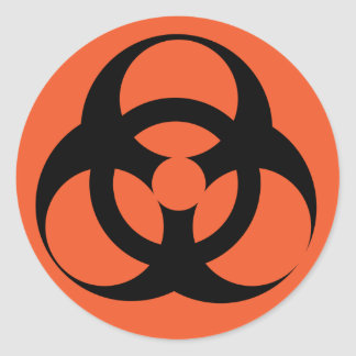 Biohazard - Biological Hazard Classic Round Sticker