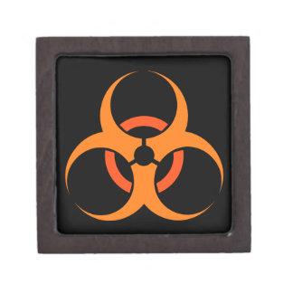 Biohazard biological hazard symbol orange premium gift boxes