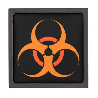 Biohazard biological hazard symbol orange premium keepsake box