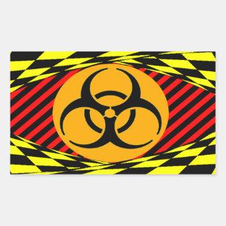 Biohazard Design by Kenneth Yoncich Rectangular Sticker