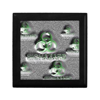 biohazard fallout contamination sign toxic green small square gift box