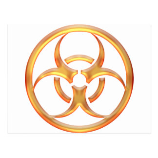 Biohazard Gold Postcard