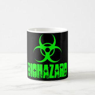 Biohazard green/black color change mug