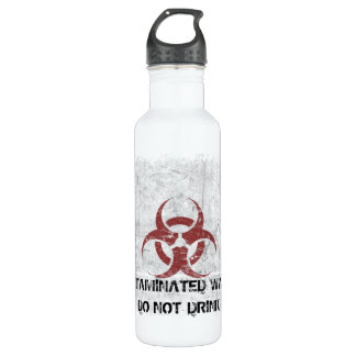 Biohazard Grunge Customizable 710 Ml Water Bottle