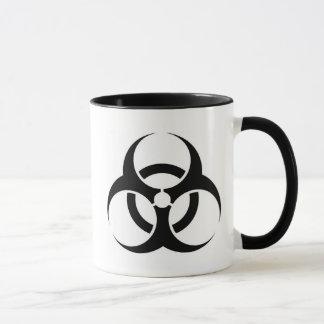 Biohazard mug w/ text