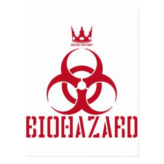 BIOHAZARD (red) Postcard
