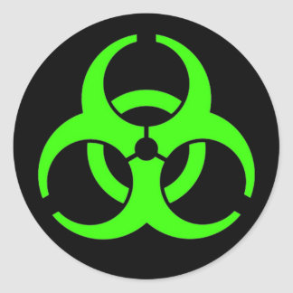 Biohazard Round Stickers