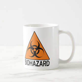 Biohazard sign coffee mug