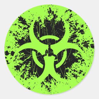 Biohazard -Splat Round Sticker