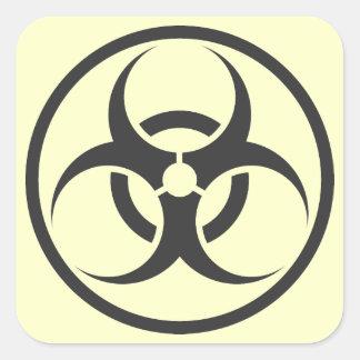 biohazard square sticker
