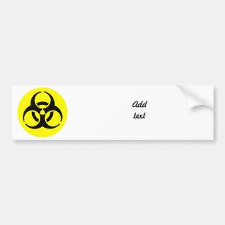 BioHazard Symbol Bumper Sticker