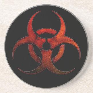 Biohazard Symbol Coaster
