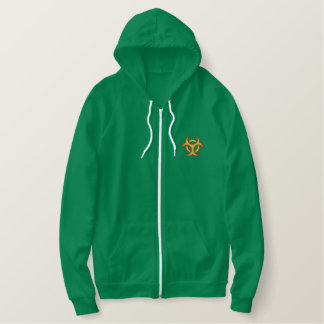 Biohazard Symbol Embroidered Hoodies