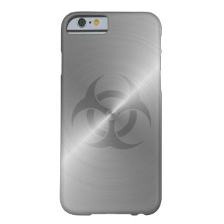Biohazard Symbol In Steel Barely There iPhone 6 Case
