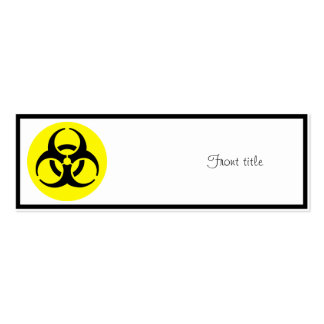 BioHazard Symbol Pack Of Skinny Business Cards