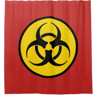 Biohazard Symbol Shower Curtain