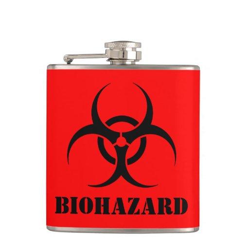 BIOHAZARD Symbol Warning Label Halloween Props Hip Flask