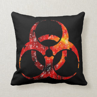 Biohazard Symbol Your American MoJo Throw Pillow