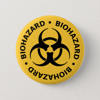 Biohazard Warning 6 Cm Round Badge