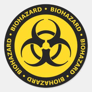 Biohazard Warning Classic Round Sticker