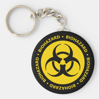 Biohazard Warning Key Ring