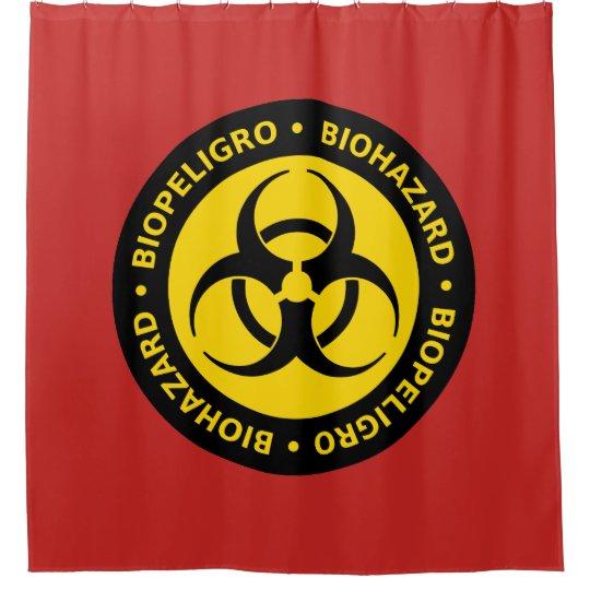 Biohazard Warning Sign Shower Curtain