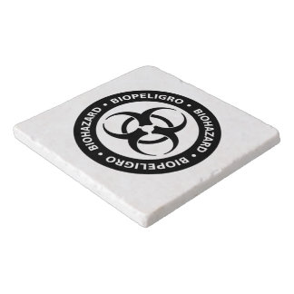 Biohazard Warning Sign Trivets