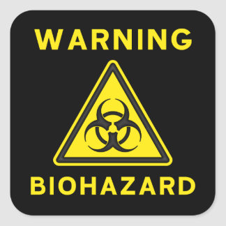 Biohazard Warning Sticker