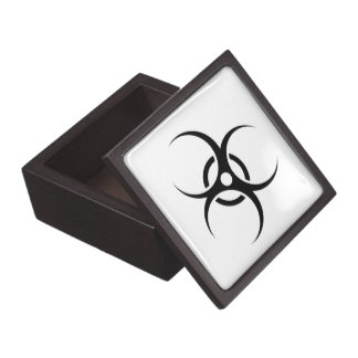Biohazard Warning Symbol Premium Trinket Boxes