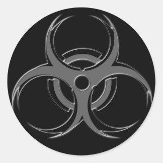 Biohazard X Round Sticker