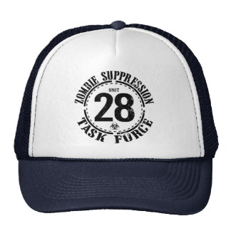 Biohazard Zombie Task Force Trucker Hats