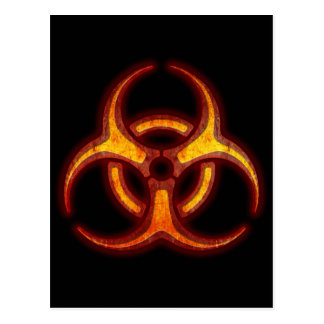 Biohazard Zombie Warning Postcard
