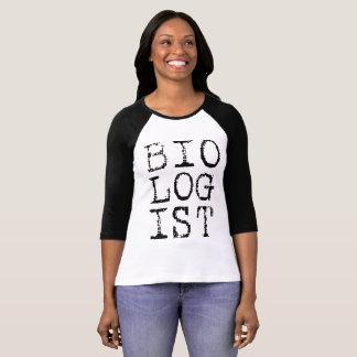 Biologist Ladies Raglan T-Shirt