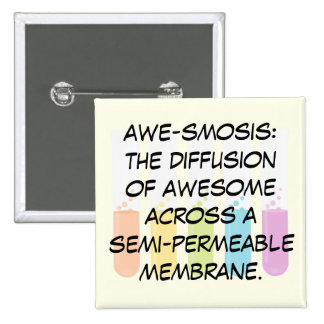 Biology & Chemistry Teachers: Science is Awesome 15 Cm Square Badge