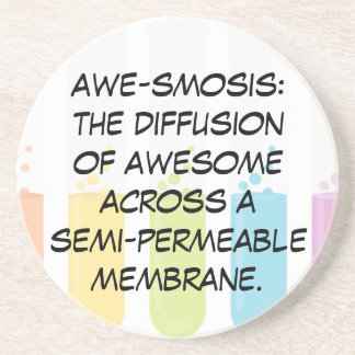 Biology & Chemistry Teachers: Science is Awesome Drink Coasters