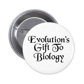 Biology Evolution Humor Button