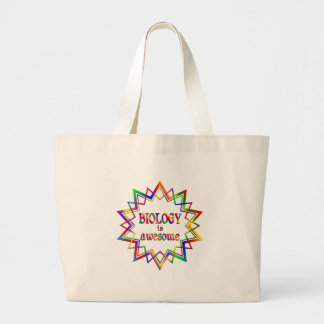 Biology is Awesome Large Tote Bag