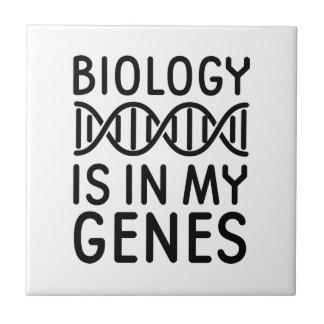 Biology Is In My Genes Ceramic Tile
