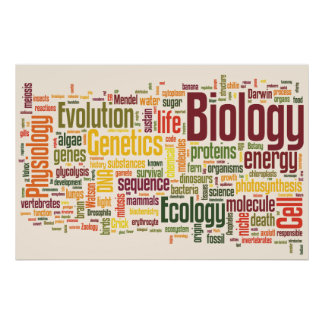 Biology Latte Wordle Posters