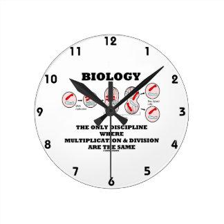 Biology Only Discipline Multiplication Division Clock