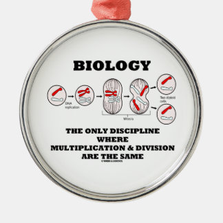 Biology Only Discipline Multiplication Division Metal Ornament
