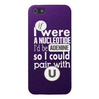 Biology slogan nucleotide adenine uracil case for iPhone 5/5S