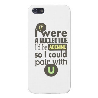 Biology slogan nucleotide adenine uracil iPhone 5 covers
